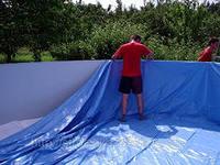 построить каркасный бассейн на даче
