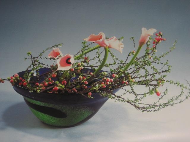 декоративное цветоводство - экибана из цветов