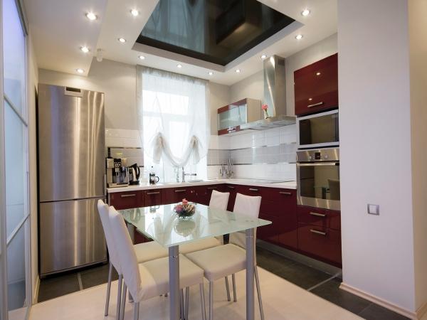 стеклянный столик для кухни