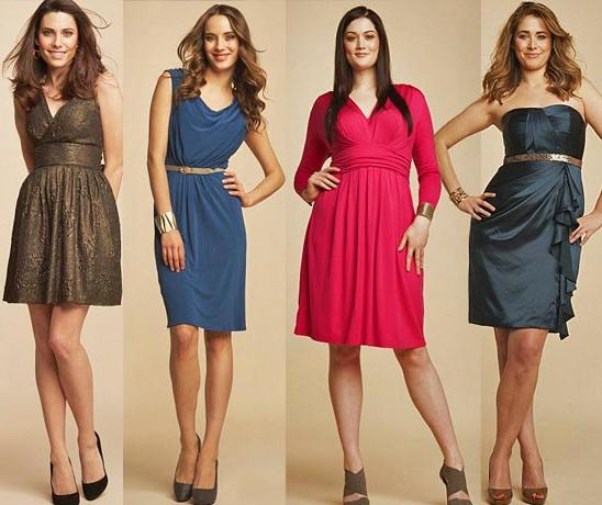 женские платья по типу фигуры